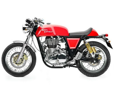 Royal Enfield Continental GT Red side view HD Wallpaper