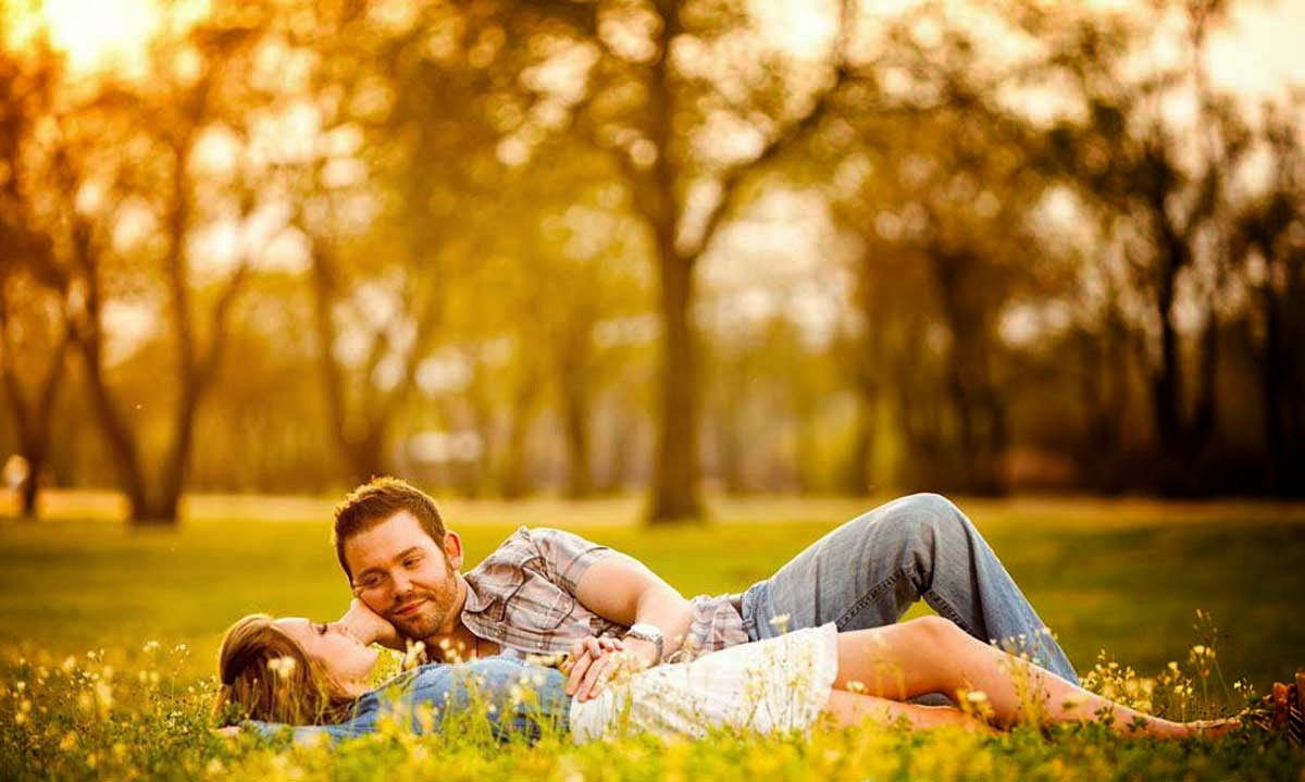 Beautiful Love Couple Autumn Photography