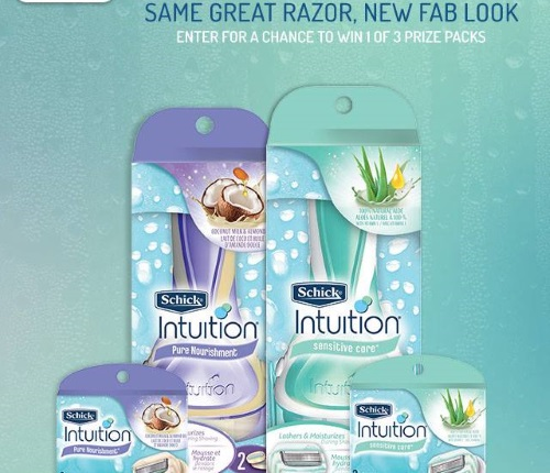 Schick Intuition Prize Pack Contest