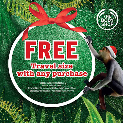 The Body Shop Malaysia Free Travel Sized Product Gift