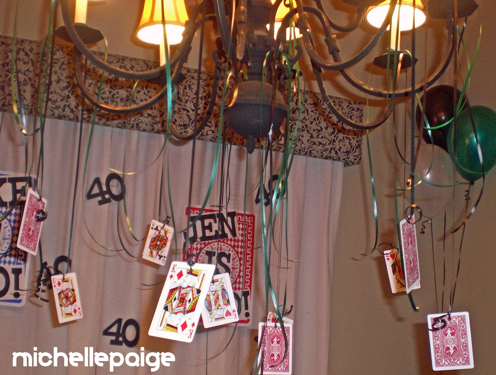 I Hung Playing Cards From The Chandelier Used An Old Deck That Didn T Mind Destroying With Holes
