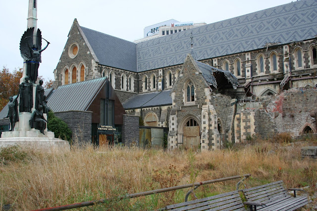 Christchurch, New Zealand cathedral in ruins