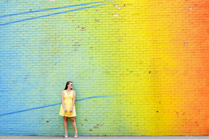 rainbow wall brooklyn, Dumbo