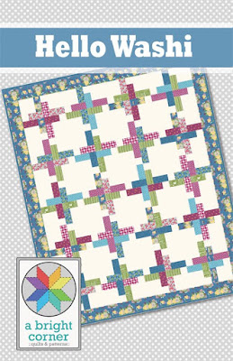 Hello Washi quilt pattern - a jelly roll friendly quilt pattern from A Bright Corner