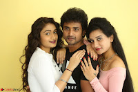 Kiran Chetwani with Janani Iyyer and others at Lakshmi Devi Samarpinchu Nede Chudandi Movie Interview 017.JPG