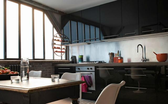 Noir blanc un style - Lumiere cuisine ikea ...