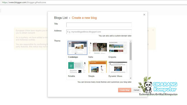 Ymobile4 - Cara Membuat Blogspot