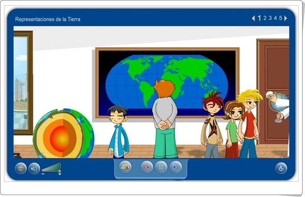 """""""Representaciones de la Tierra"""" (Aplicación interactiva de Ciencias Sociales de Primaria)"""