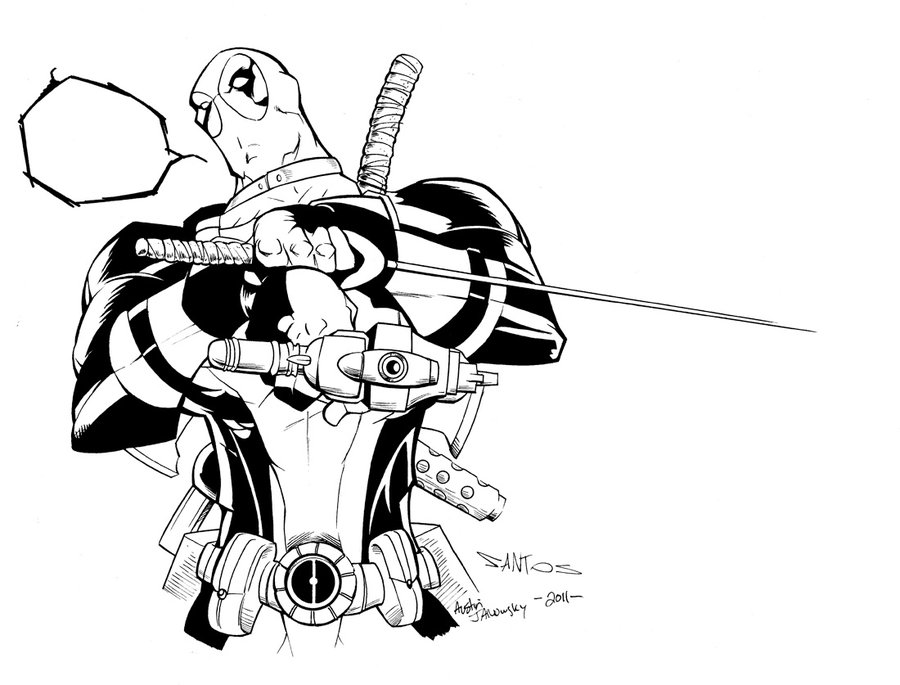 Deadpool Para Colorear Pintar E Imprimir: Coloring Pages For Kids Free Images: Deadpool Free
