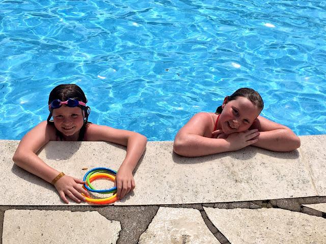 twins swimming