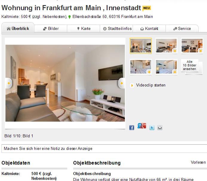 Single wohnung in frankfurt am main
