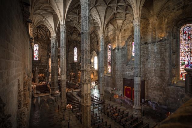 Nave de la iglesia del Monasterio de los Jerónimos, desde el coro alto :: Canon EOS5D MkIII | ISO100 | Canon 17-40@17mm | f/8.0 | 3,2s
