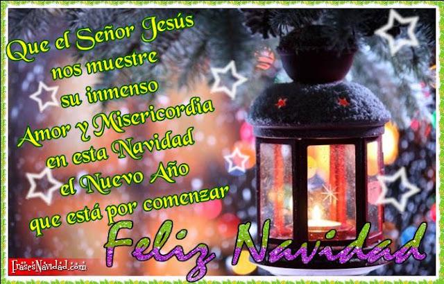 feliz Navidad y año Nuevo imágenes con frases cristianas