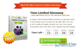 Giveaway : WinX HD Video Converter Deluxe