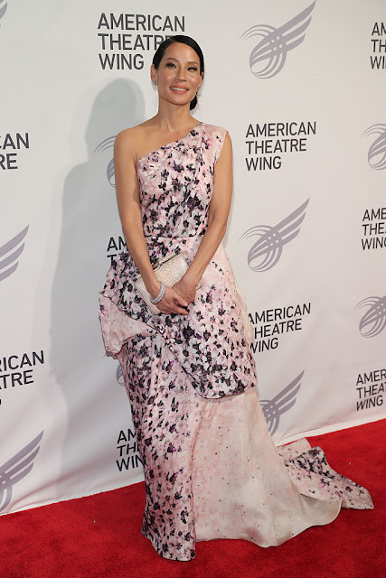 Lucy Liu carried Tyler Ellis to the 2016 American Theatre Wing Gala