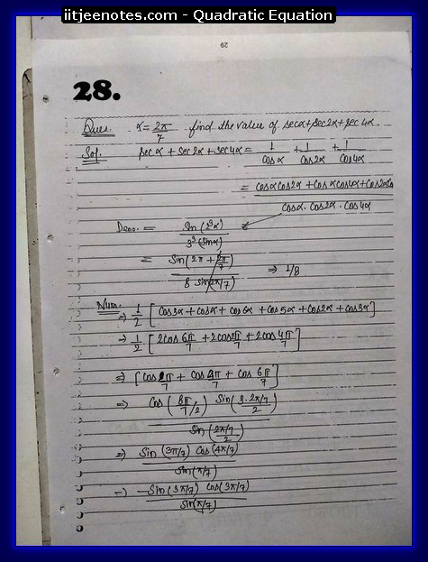 maths class 11 notes quadratic equation10
