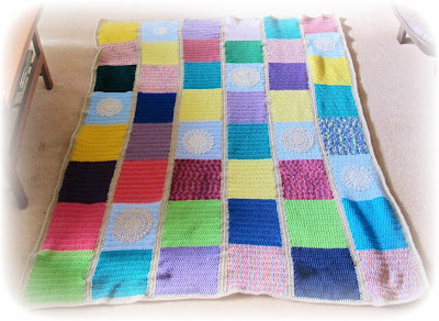 image crazy crochet patchwork blanket with vintage doilies multicoloured two cheeky monkeys blog