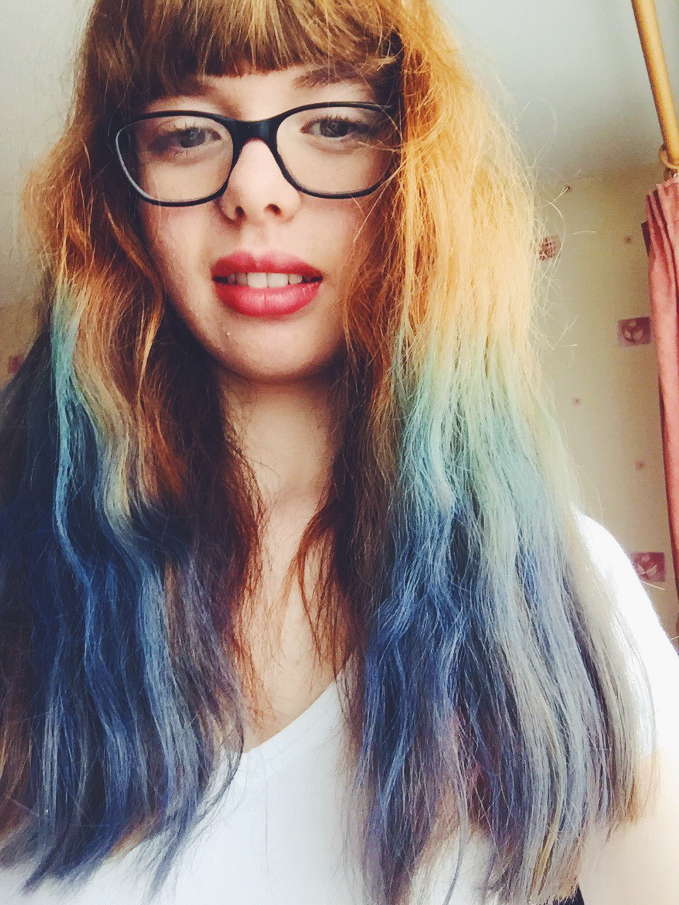My Hair Timeline (2003-2017) dip dye chalk blue green
