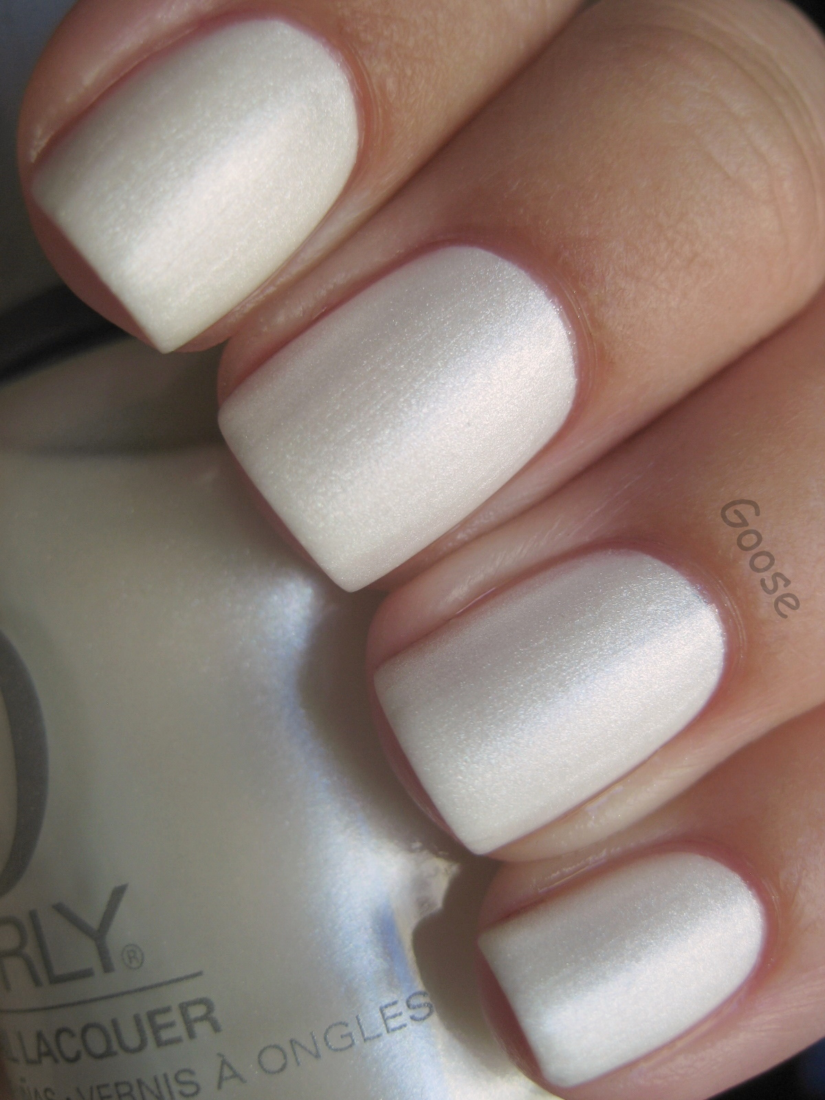 Goose S Glitter Orly Au Champagne And Little Bird
