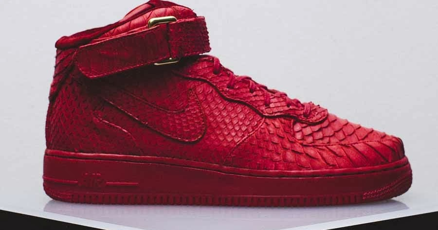 "huge selection of ad3f1 d718b EffortlesslyFly.com - Online Footwear Platform for the Culture Custom  Kicks Nike Air Force 1 Mid ""Red Python""~"