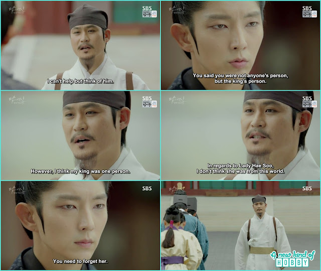 ji monk also leave king wang so side and leave the palace and also told Hae Soo was not from this world - Moon Lovers Scarlet Heart Ryeo - Episode 20 Finale (Eng Sub)