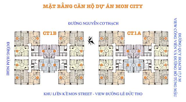 Mặt bằng căn hộ chung cư Hải Đăng City