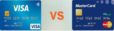 Gambar beda design visa dan mastercard