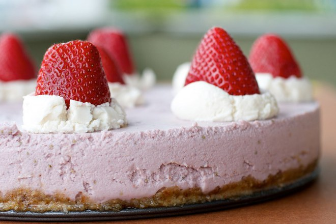 Cheesecake de Frutos Vermelhos Crudivegan