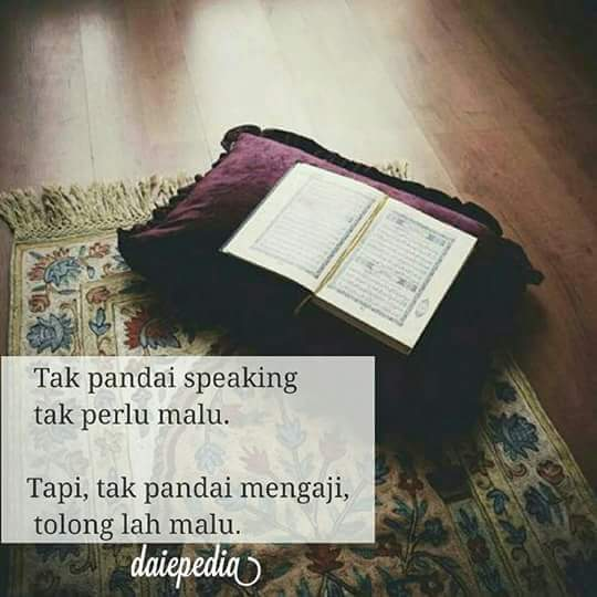 Antara Speaking English dan Mengaji Al-Quran