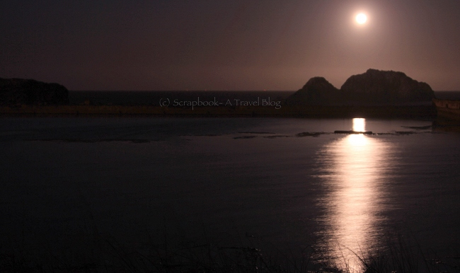 Moonset at Suthro Baths San Francisco