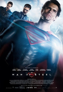Henry Cavill, Michael Shannon and Russell Crowe in Man of Steel poster
