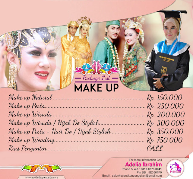 Brosur Harga Makeup Wisuda