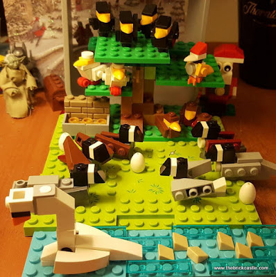 LEGO 12 Days Of Christmas geese laying swans swimming