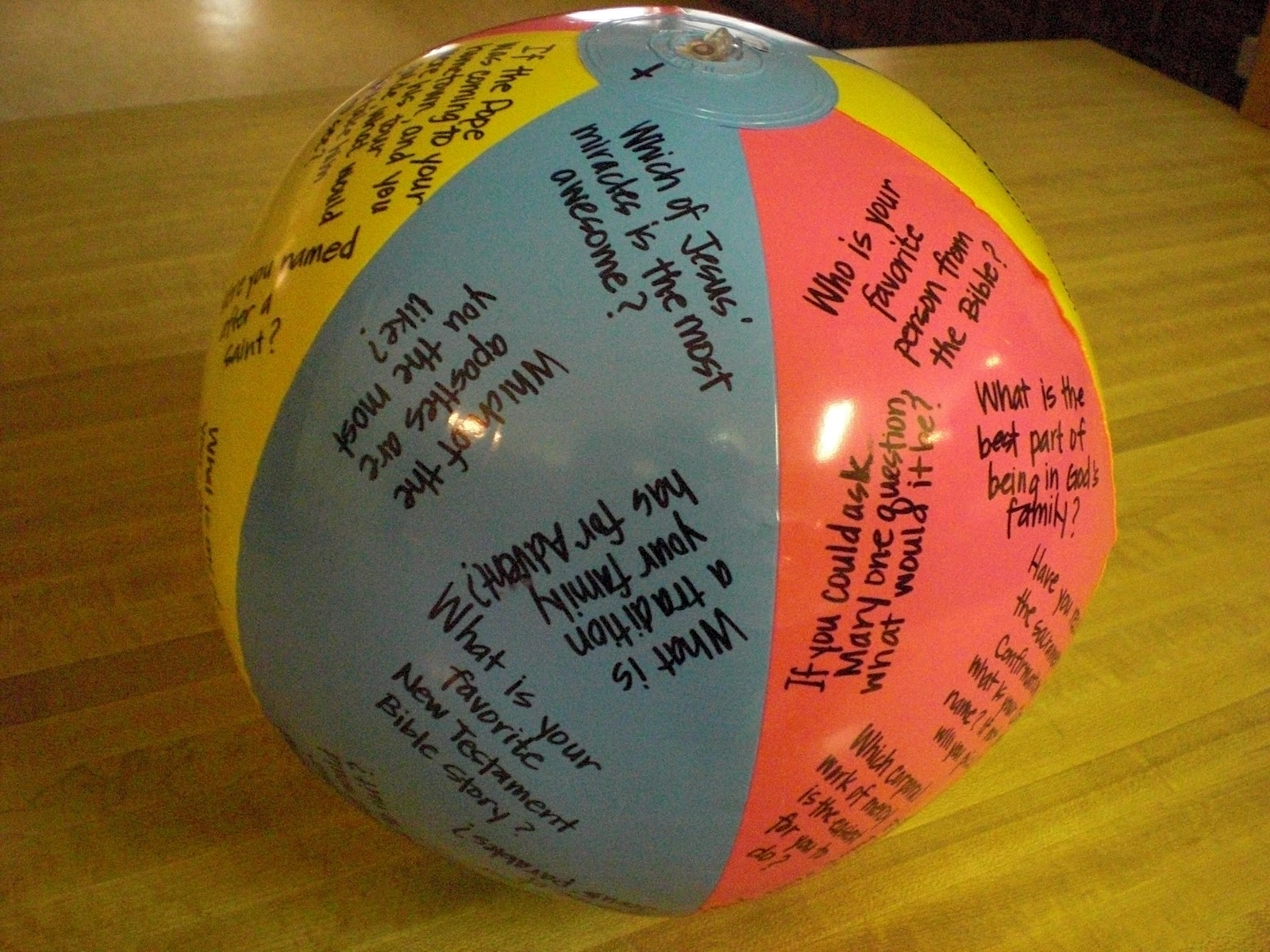 Look To Him And Be Radiant Beach Ball Icebreakers