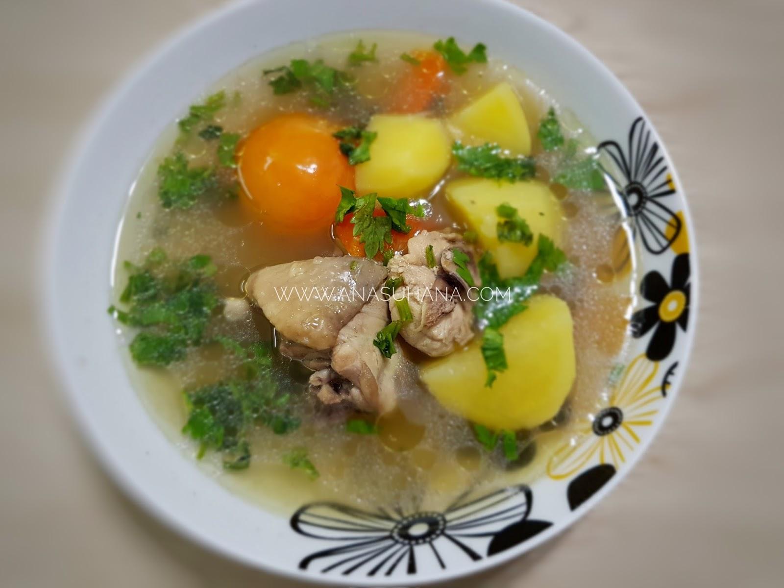 Resipi Sup Ayam Mudah dan Ringkas
