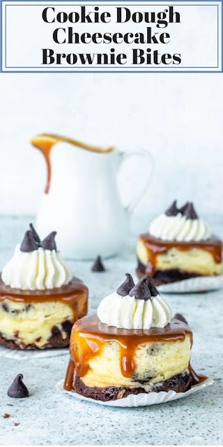 Cookie Dough Cheesecake Brownie Bites
