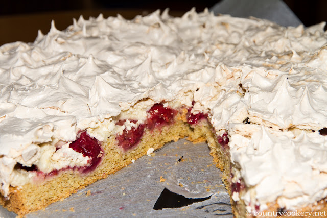 Meringue Raspberry Wholemeal Cake