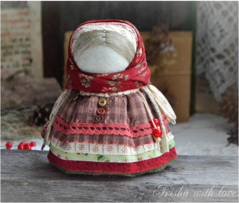 Sew DIY Folk Talisman Doll with a Candy