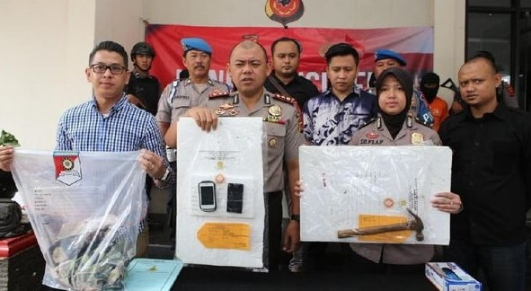 Kapolres Bogor AKBP AM Dicky Pastika Gading merilis kasus pembunuhan. Foto: (Istimewa)