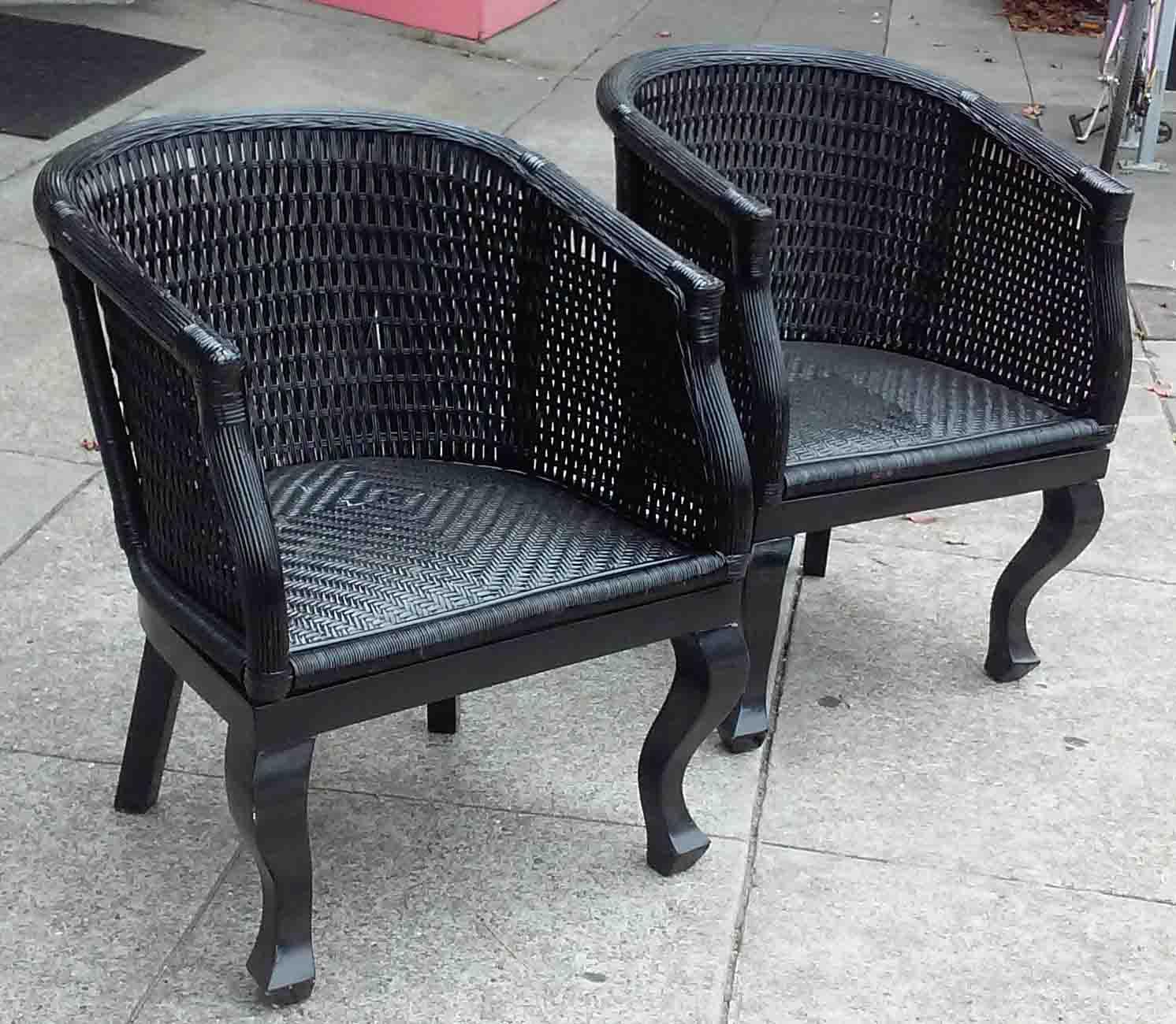 Uhuru Furniture Amp Collectibles Sold Black Wicker Patio
