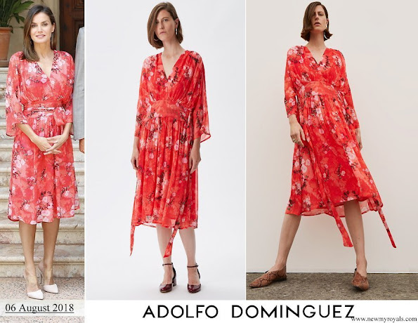 Queen Letizia wore Adolfo Domínguez Floral Print Dress