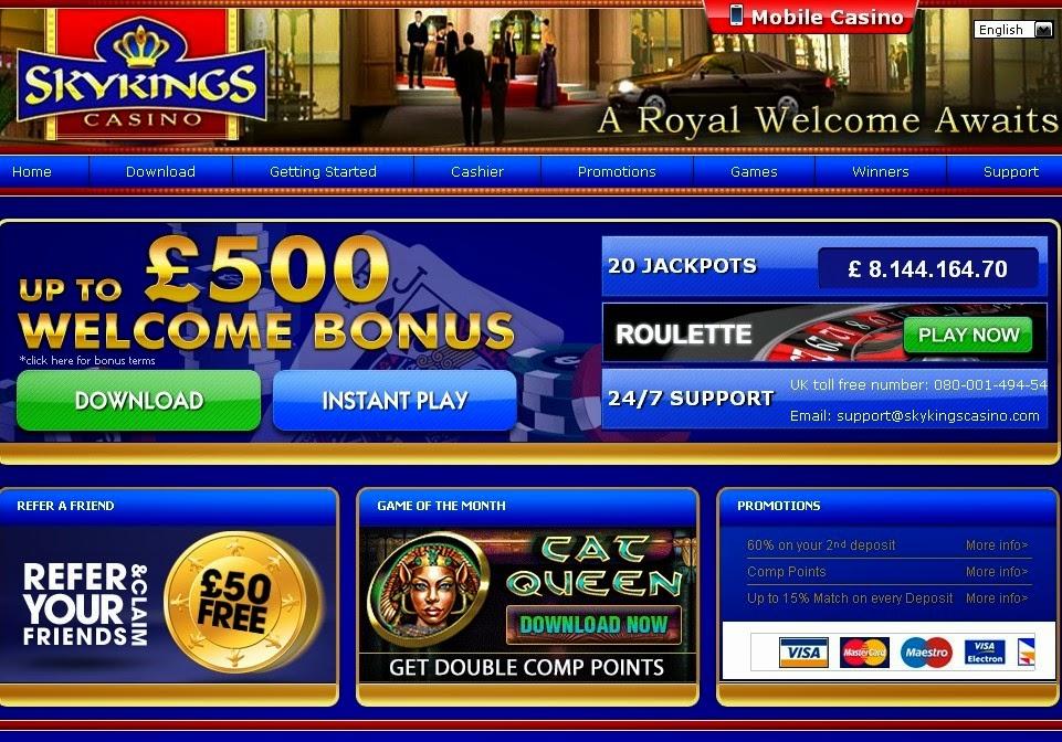 Skyking Casino Screen