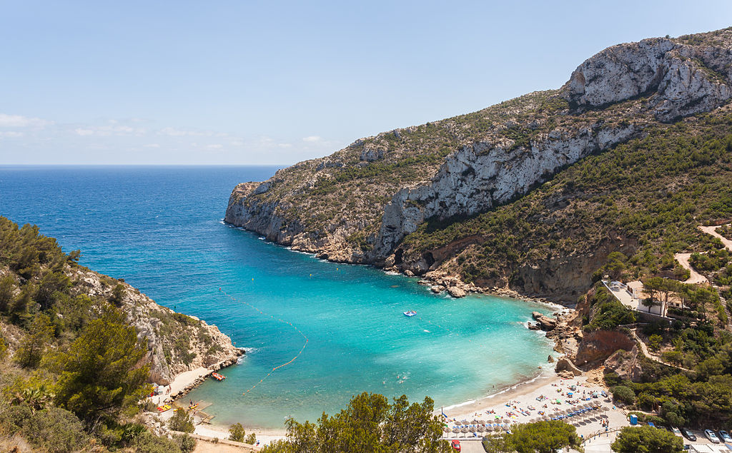 Cala de la Grandella beach in Spain