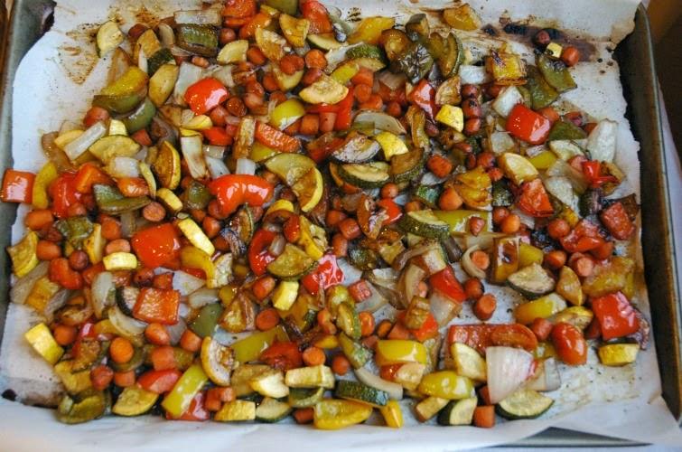 Roasted Vegetable Quinoa- vegetarian, gluten free recipe