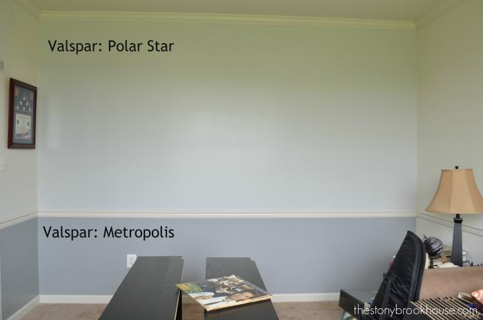 Den Wall complete with Valspar: Polar Star & Metropolis
