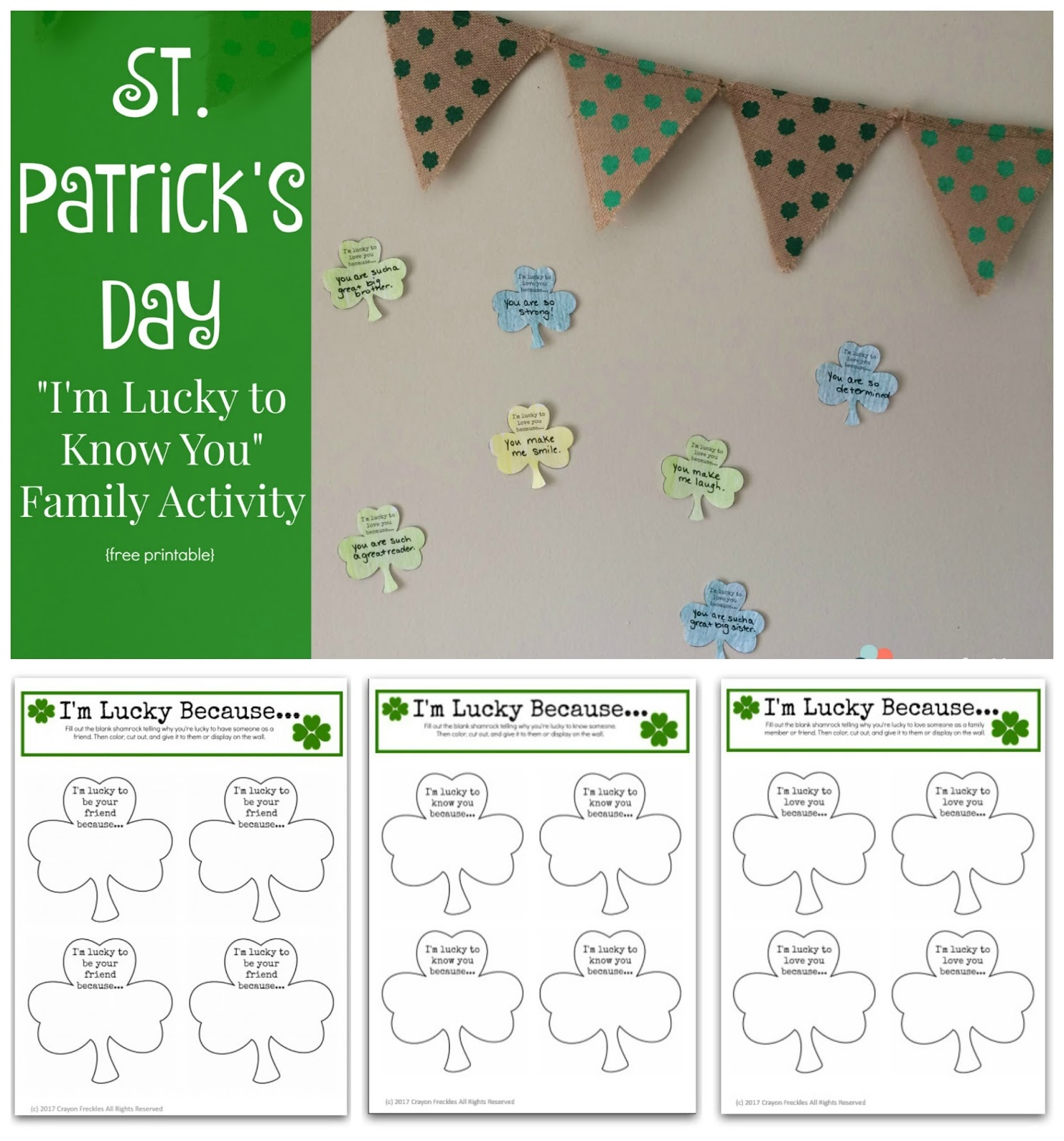 Crayon Freckles: St. Patrick\'s Day Counting Game for Kids {free ...