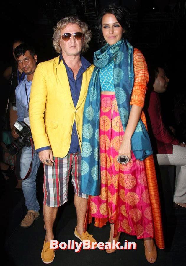 Rohit Bal and Neha Dhupia, LFW 2014 Pics  - Lakme Fashion Week 2014 Photo Gallery