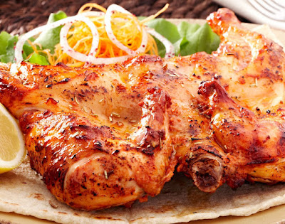 الدجاج المشوي مع الخضار السوتيه