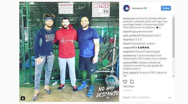 Una foto de dos estrellas cubanas es suficiente para enorgullecer a la afición de la mayor de las Antillas, en especial si se trata de dos iconos de esta generación del béisbol en Cuba
