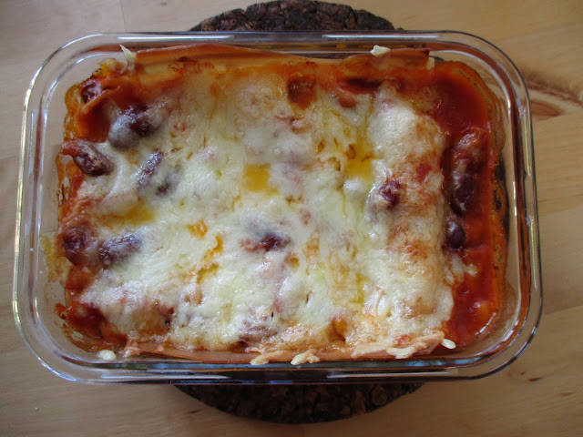 dish with lasagne